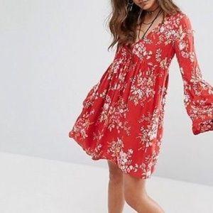 Denim & Supply Ralph Lauren   Red Floral Tunic